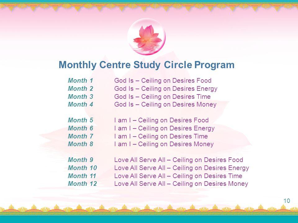Monthly Centre Study Circle Program