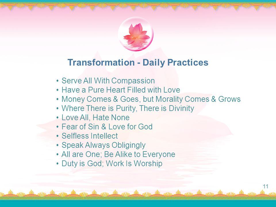 Transformation - Daily Practices