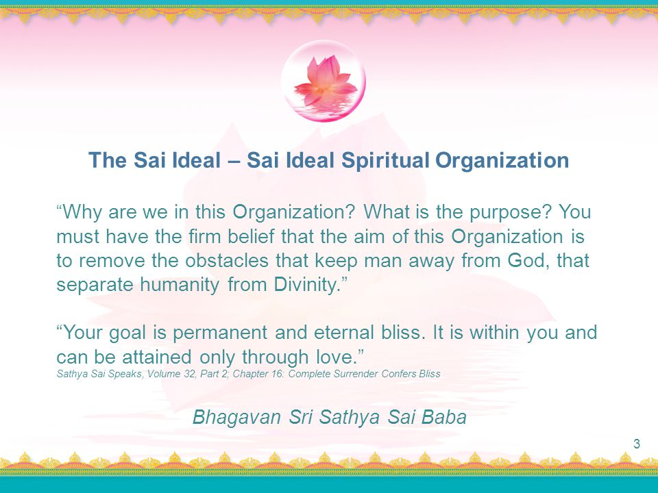 The Sai Ideal – Sai Ideal Spiritual Organization