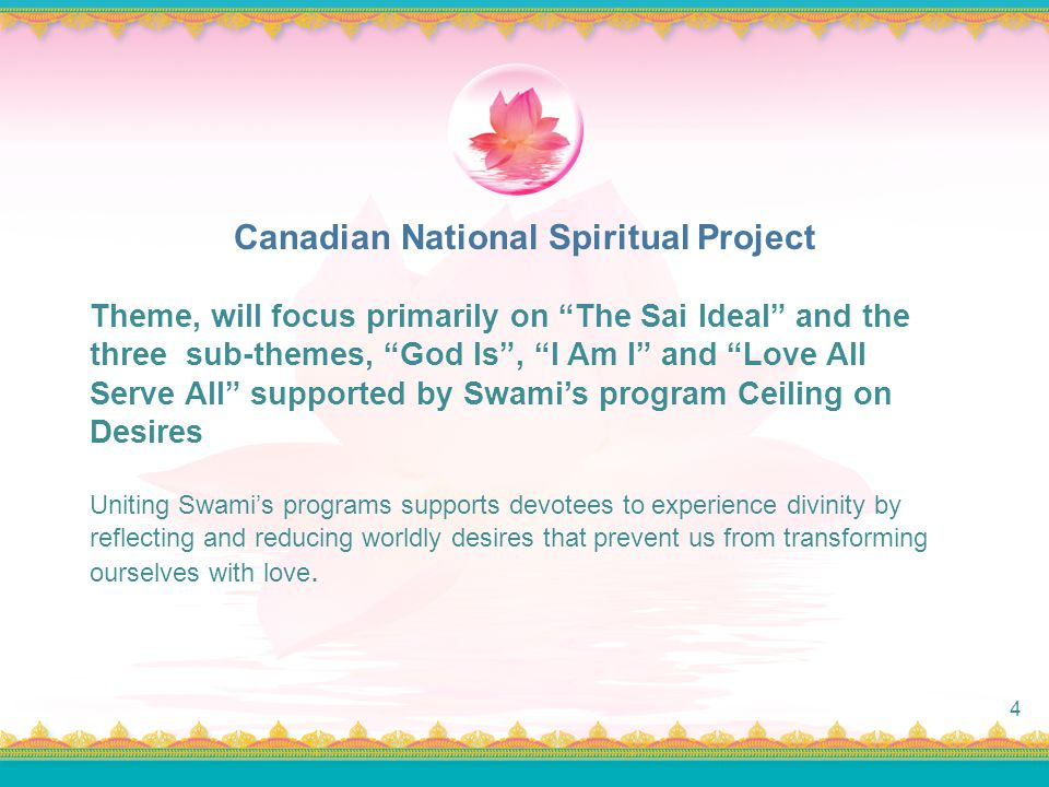 Canadian National Spiritual Project
