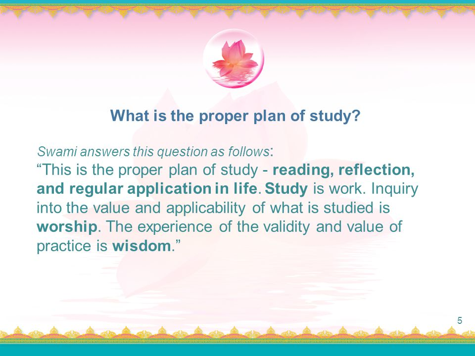 What is the proper plan of study
