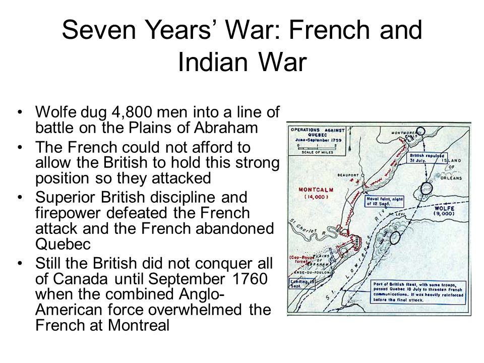 Seven Years' War: French and Indian War