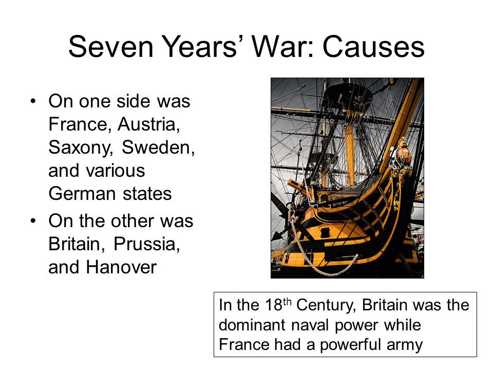 Seven Years' War: Causes