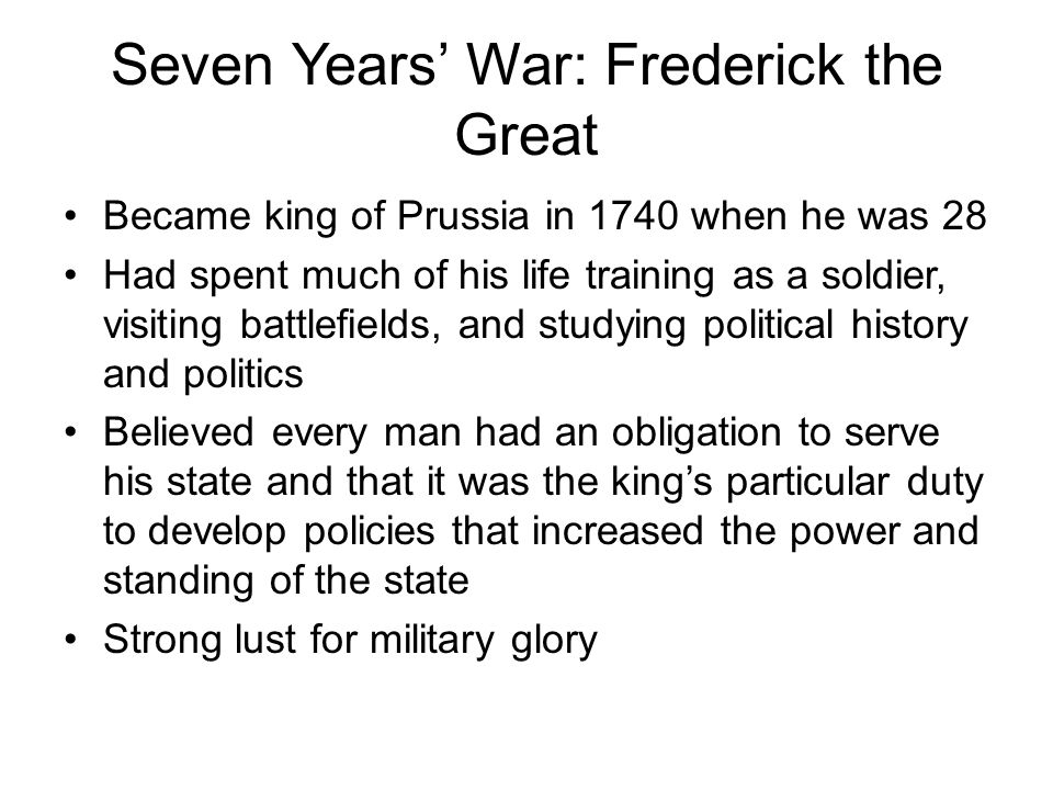 Seven Years' War: Frederick the Great