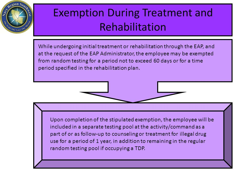 Exemption During Treatment and Rehabilitation