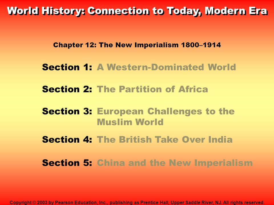 World History: Connection to Today, Modern Era