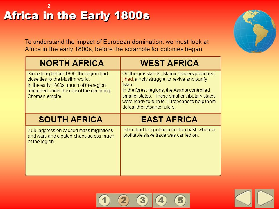 Africa in the Early 1800s NORTH AFRICA WEST AFRICA SOUTH AFRICA
