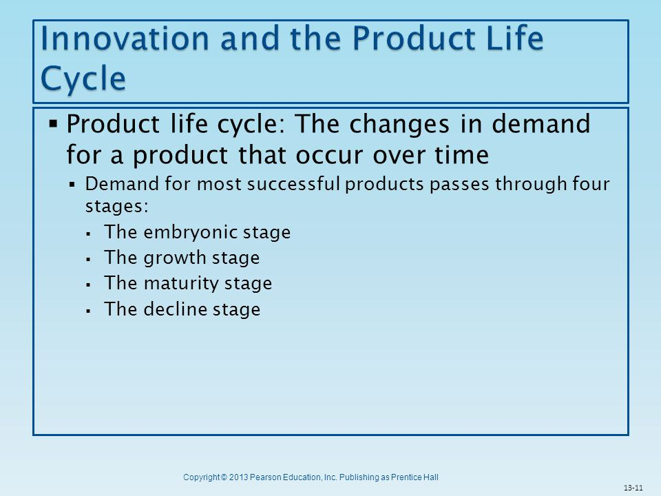 Innovation and the Product Life Cycle