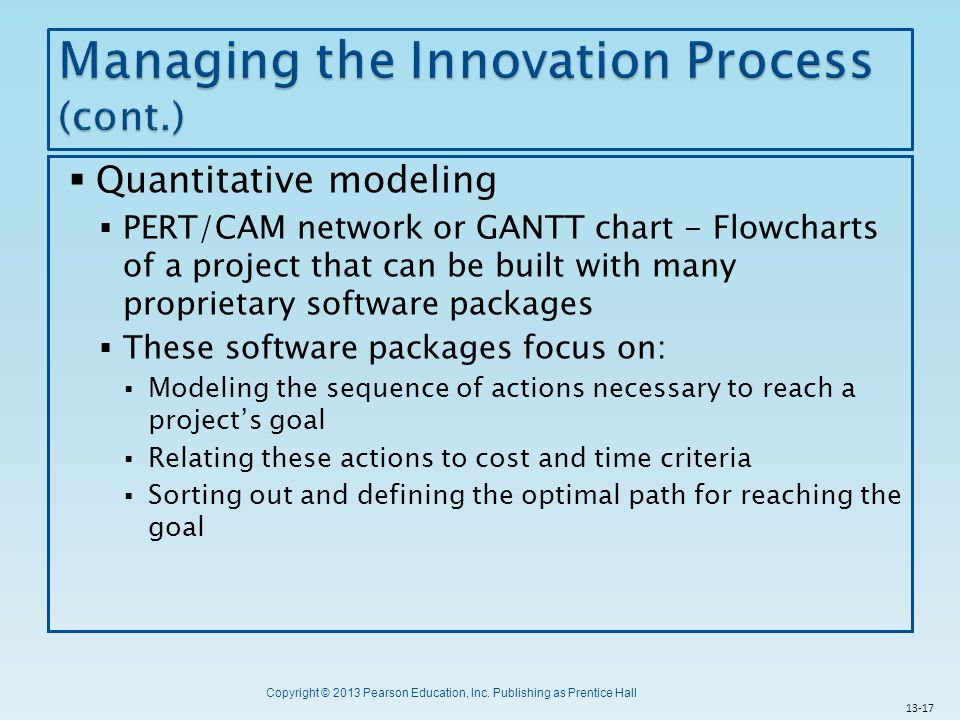 Managing the Innovation Process (cont.)