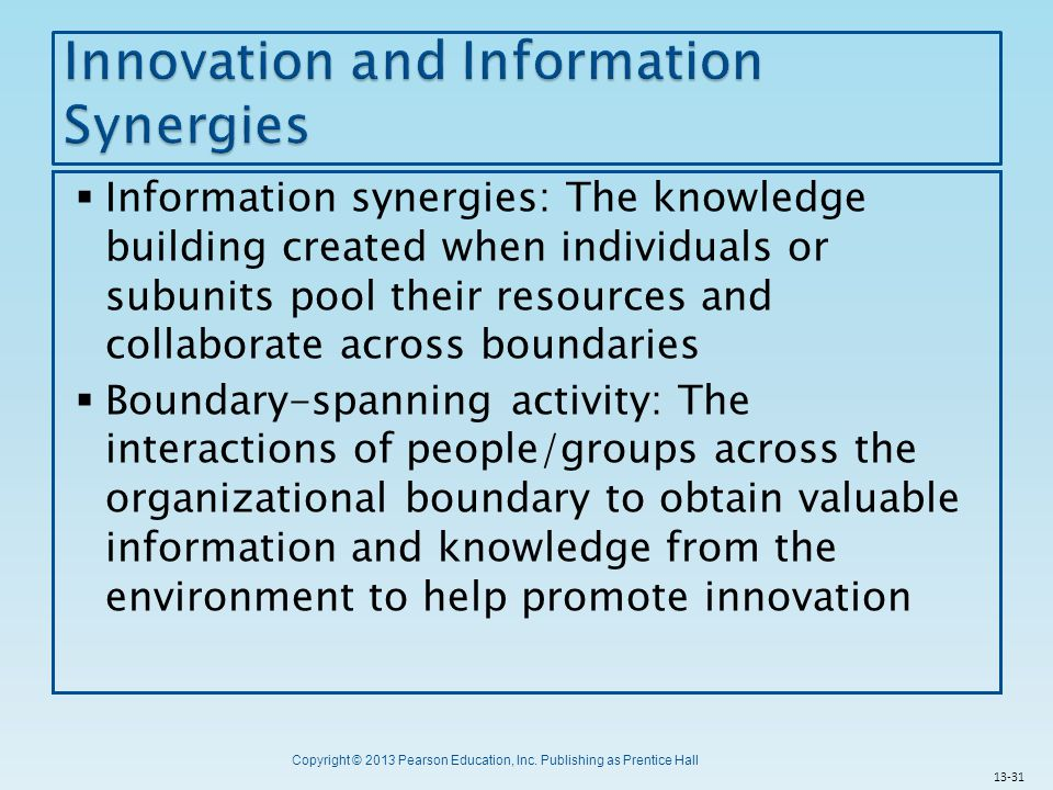 Innovation and Information Synergies