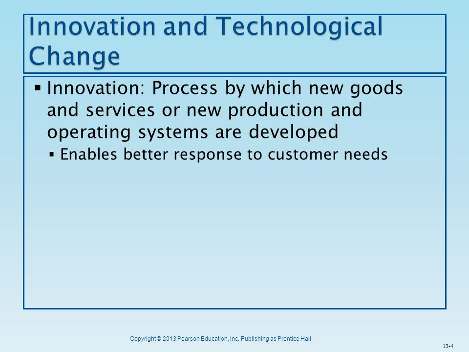 Innovation and Technological Change