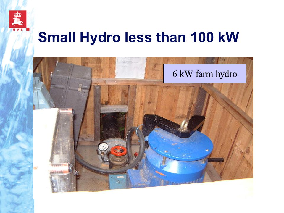 Small Hydro less than 100 kW