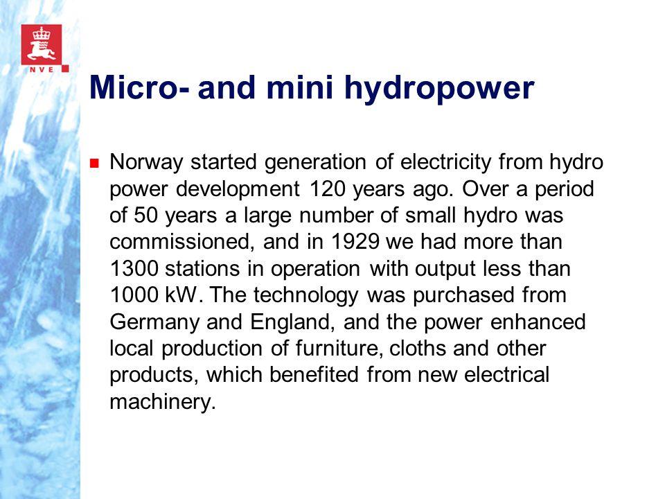Micro- and mini hydropower