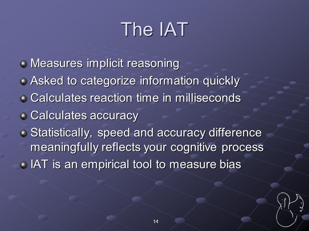 The IAT Measures implicit reasoning
