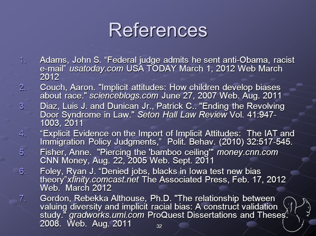 References Adams, John S. Federal judge admits he sent anti-Obama, racist e-mail usatoday.com USA TODAY March 1, 2012 Web March 2012.