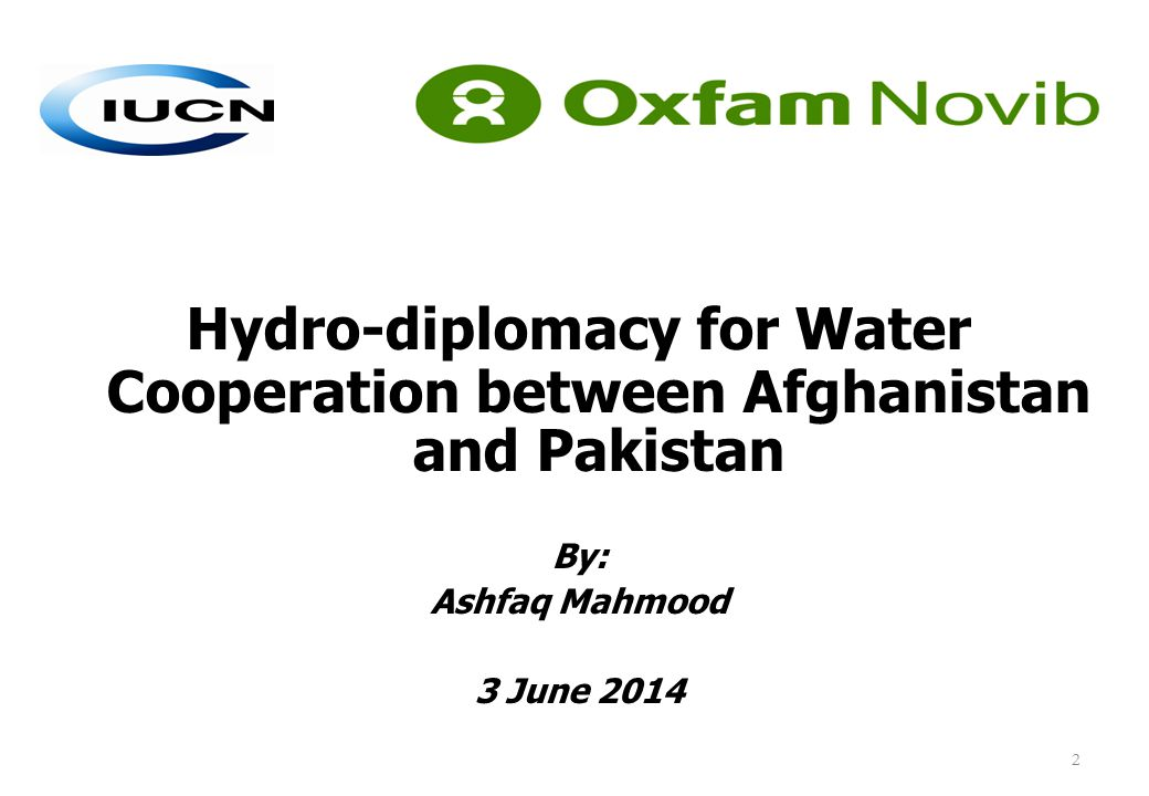 Hydro-diplomacy for Water Cooperation between Afghanistan and Pakistan