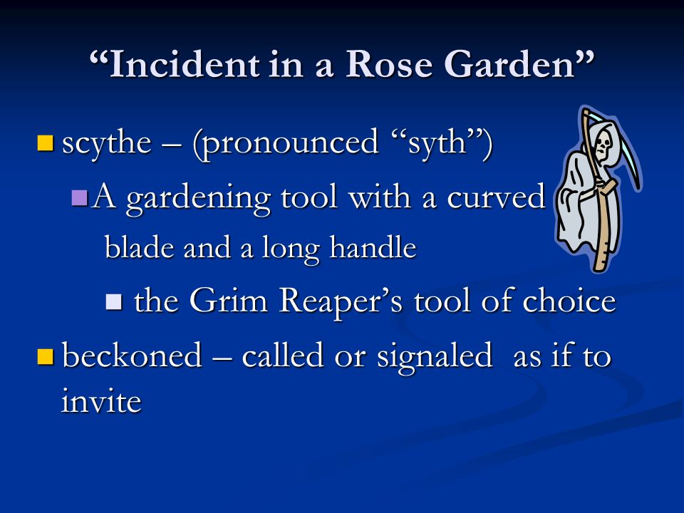 Incident in a Rose Garden