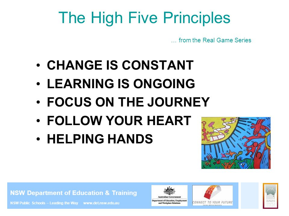 The High Five Principles … from the Real Game Series
