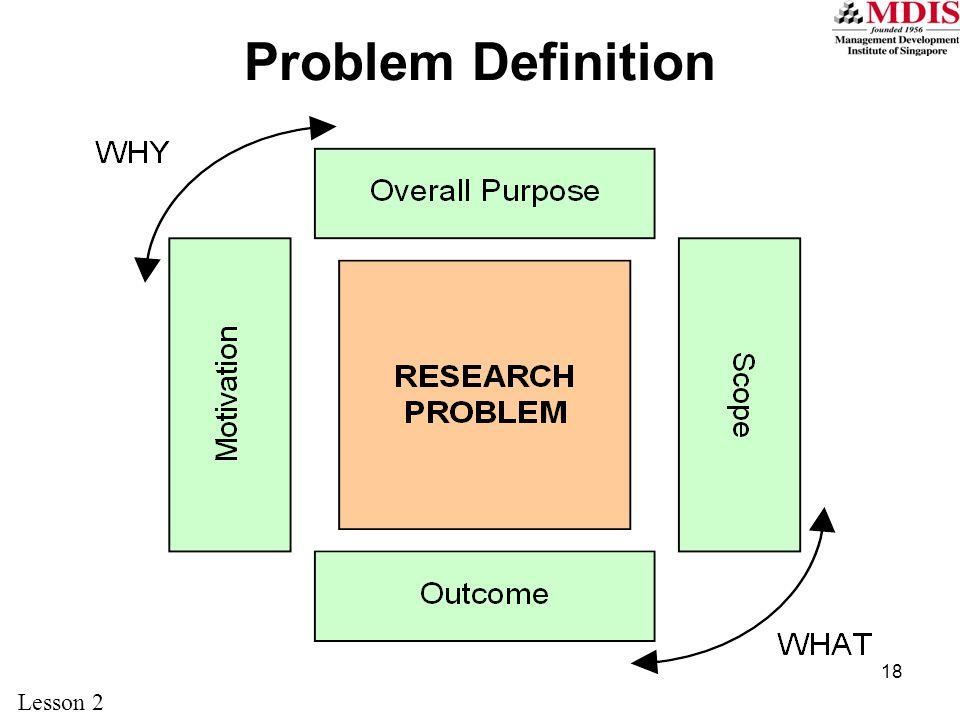 Problem Definition Lesson 2