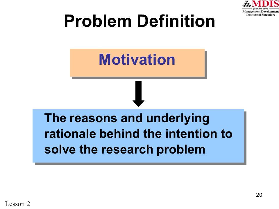 Problem Definition Motivation
