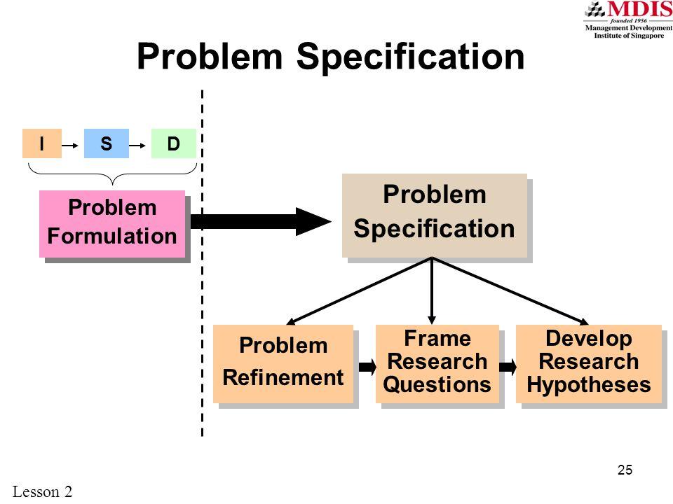 Problem Specification