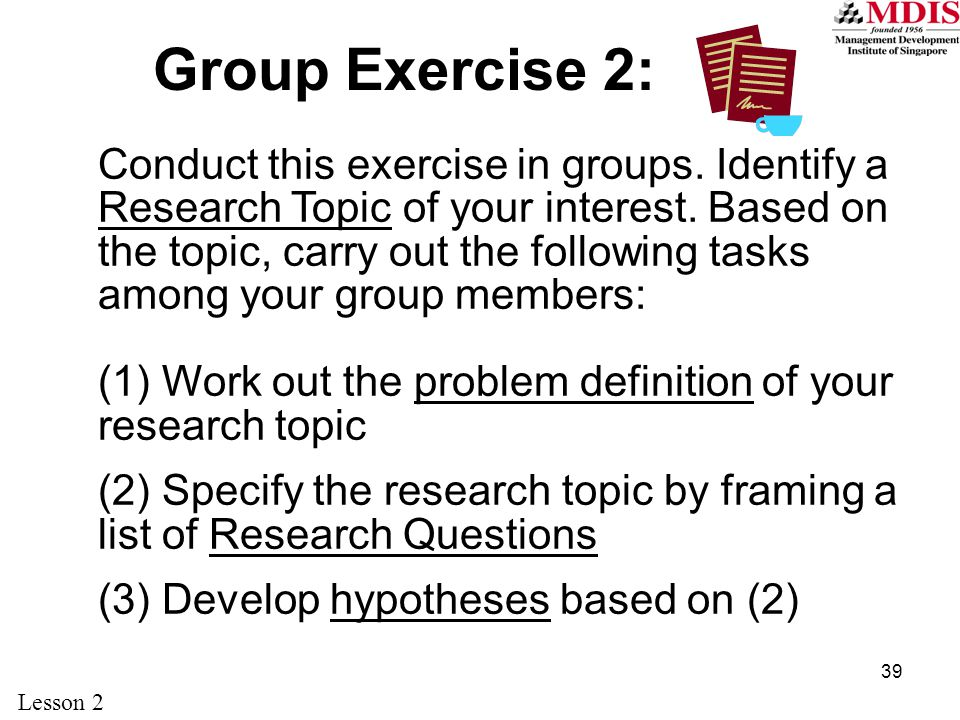 Group Exercise 2: