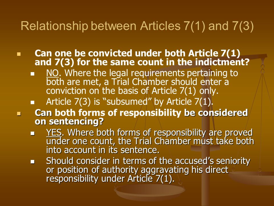 Relationship between Articles 7(1) and 7(3)