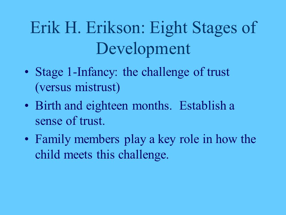 Erik H. Erikson: Eight Stages of Development