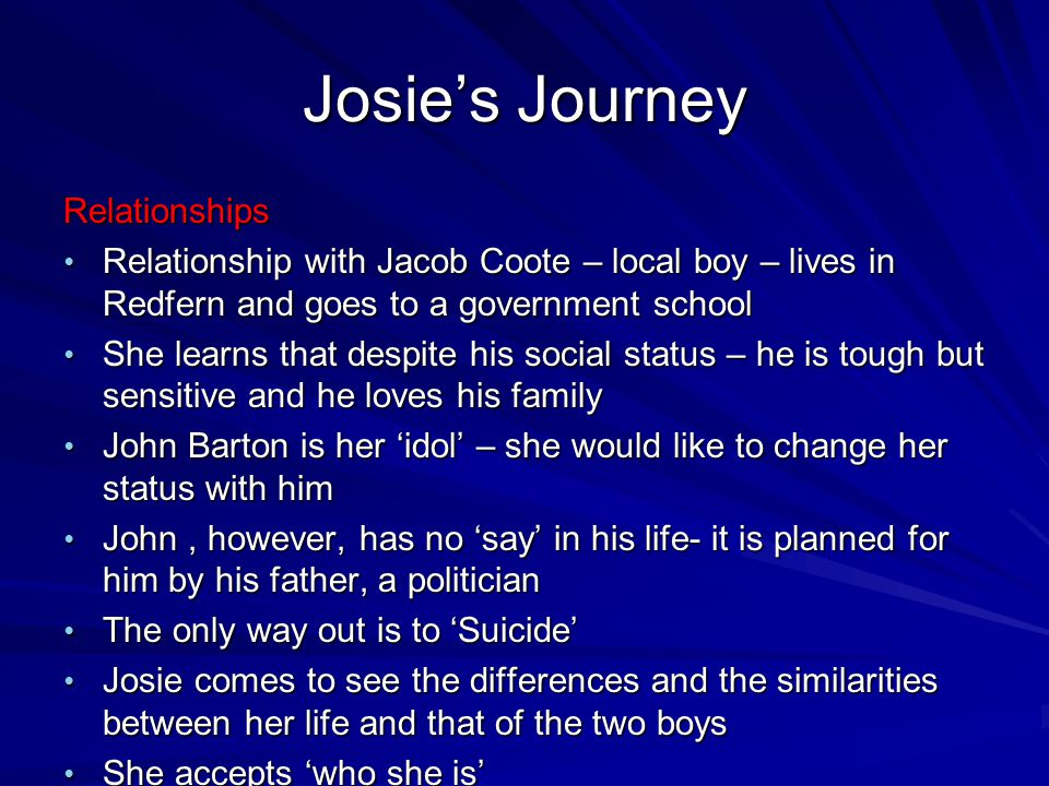 Josie's Journey Relationships