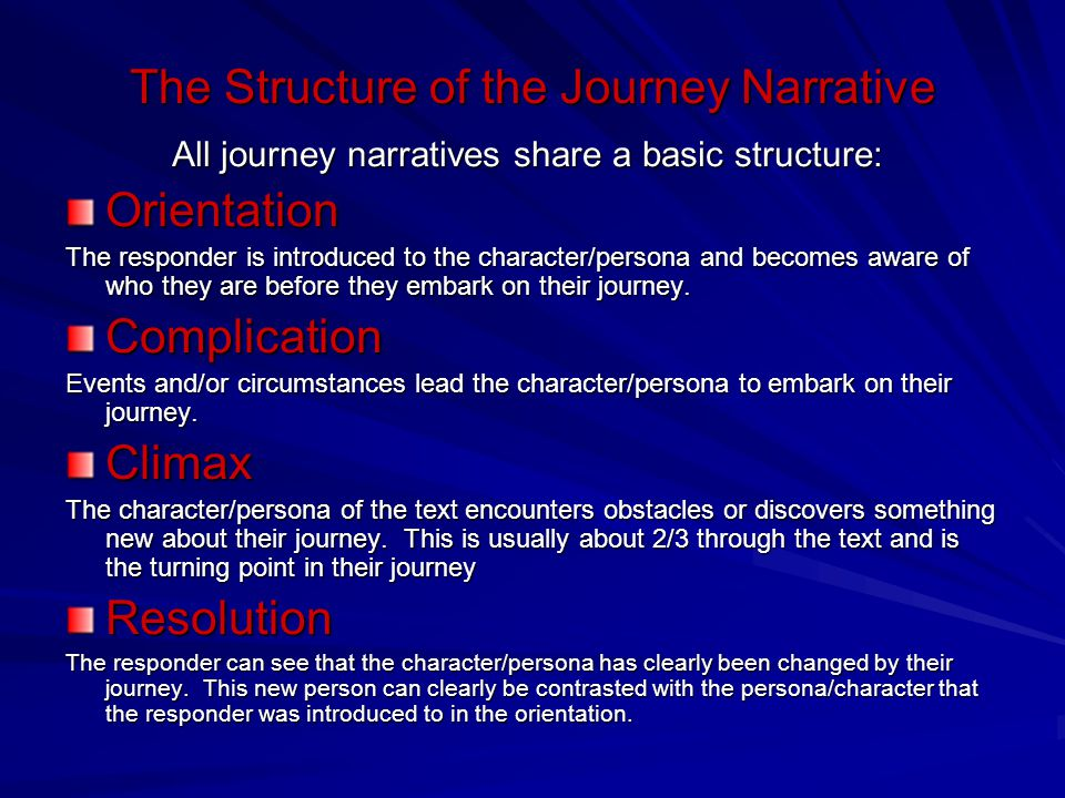 The Structure of the Journey Narrative