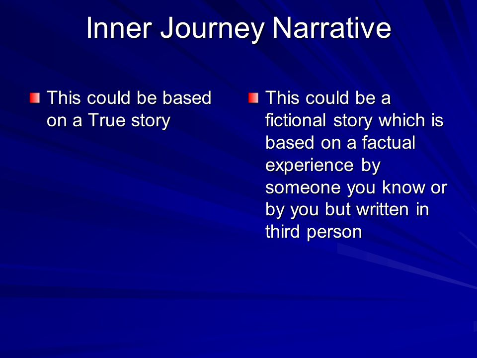 Inner Journey Narrative