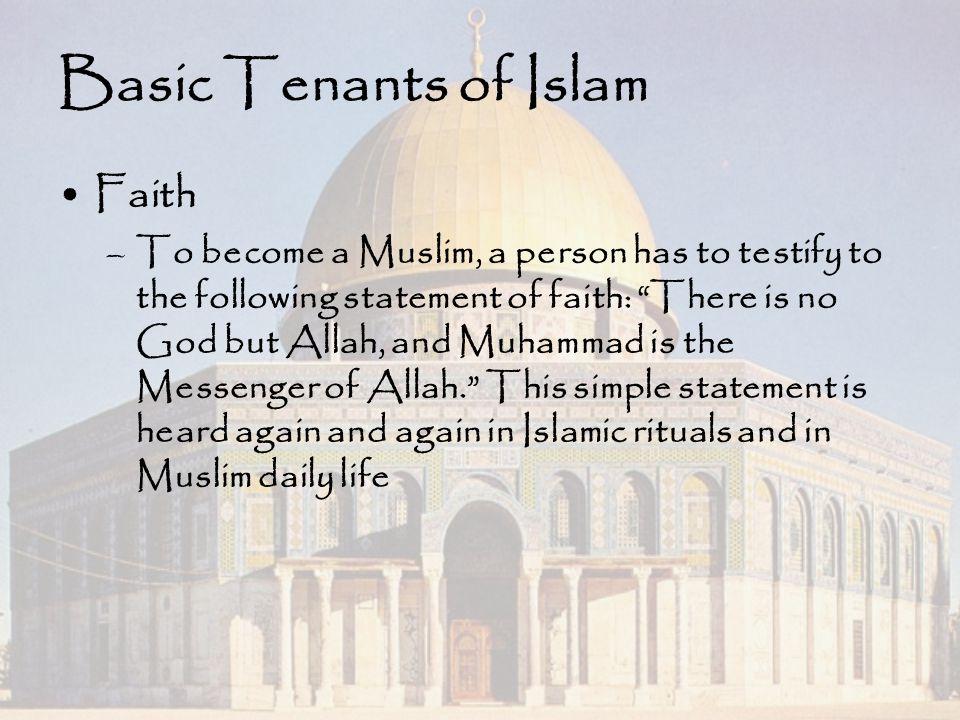 Basic Tenants of Islam Faith