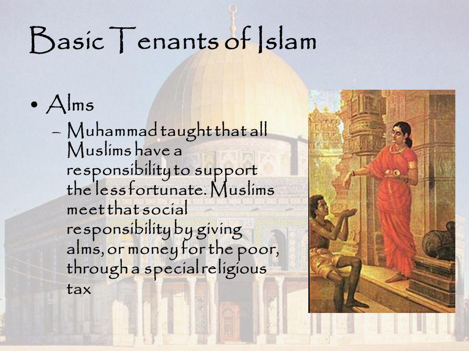 Basic Tenants of Islam Alms