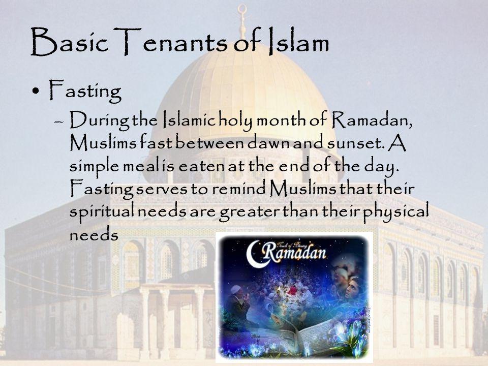 Basic Tenants of Islam Fasting