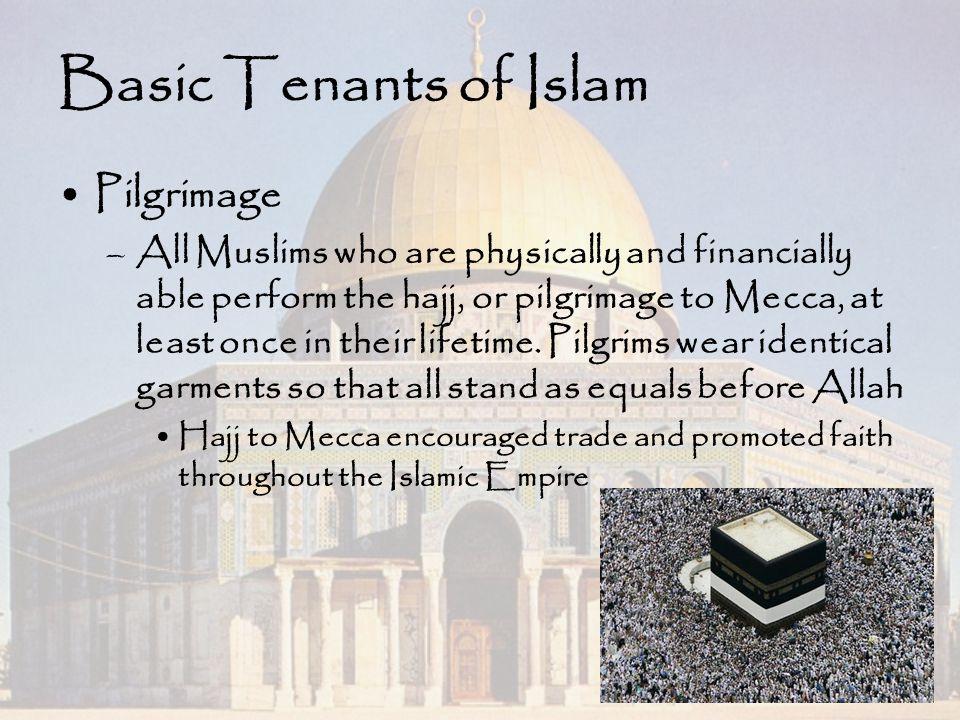 Basic Tenants of Islam Pilgrimage