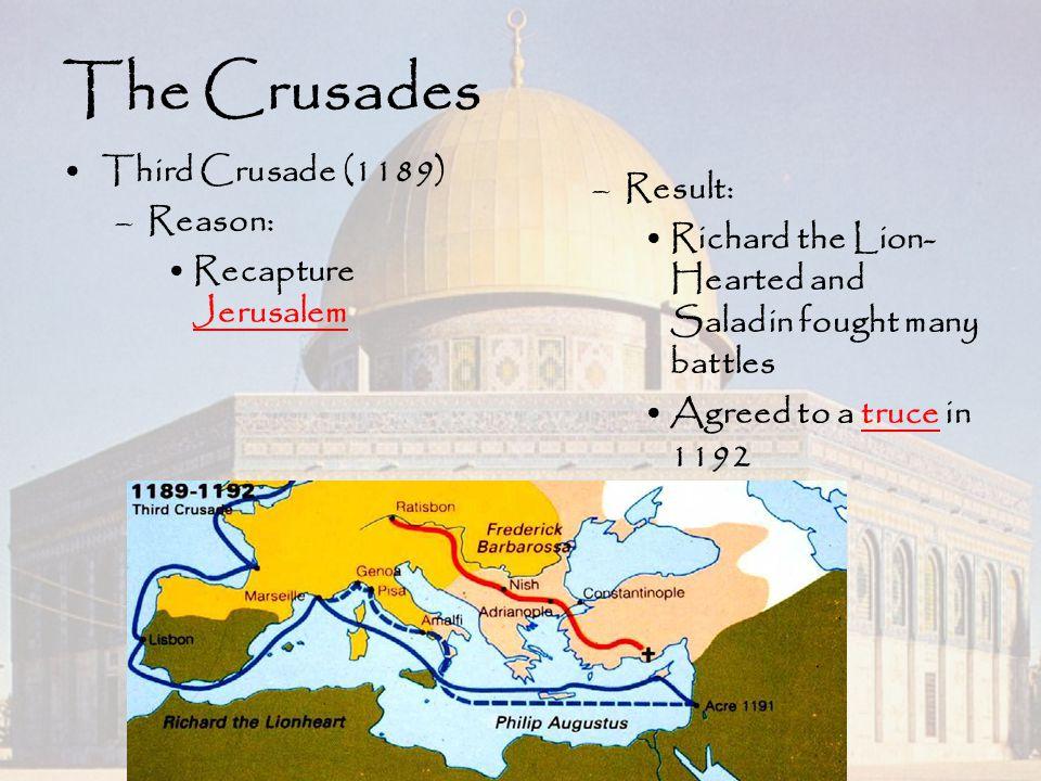 The Crusades Third Crusade (1189) Reason: Result: