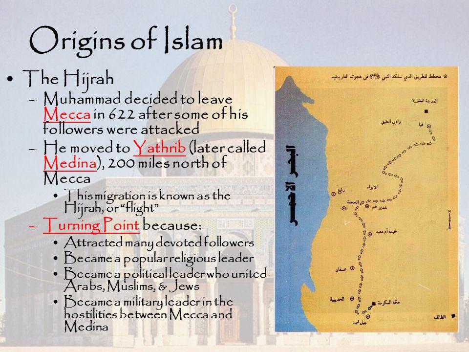 Origins of Islam The Hijrah