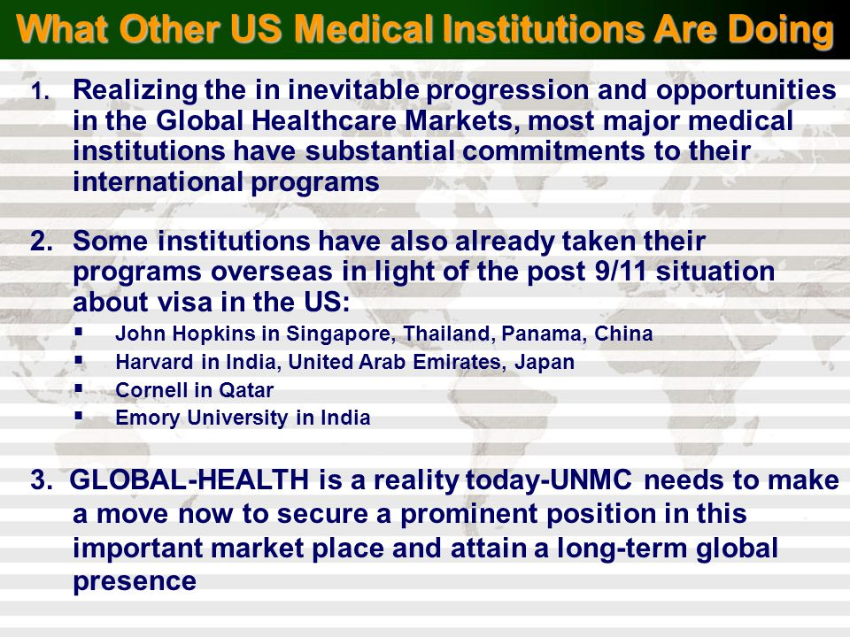 What Other US Medical Institutions Are Doing