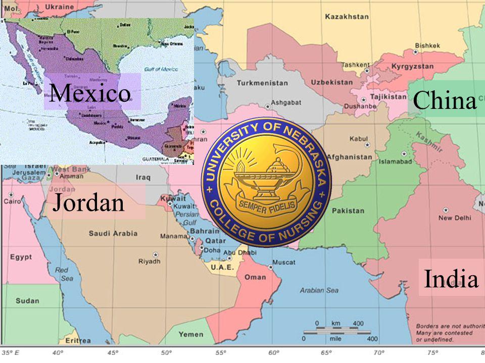 Mexico China Jordan India