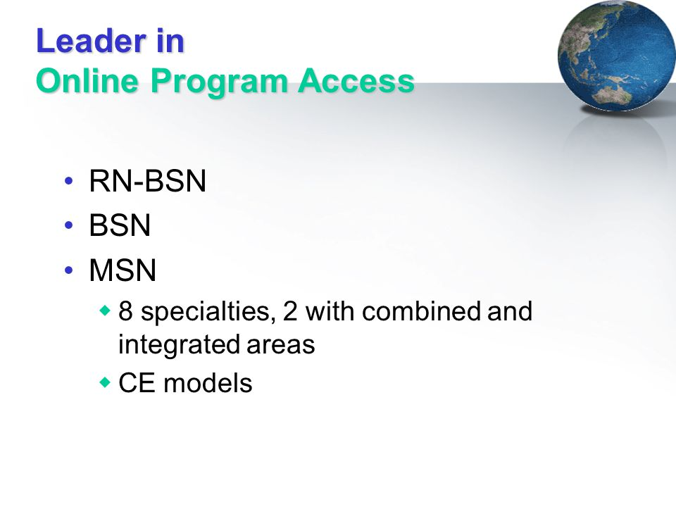 Leader in Online Program Access