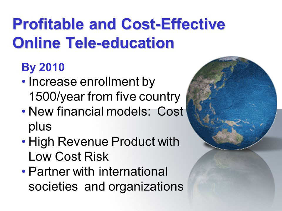 Profitable and Cost-Effective Online Tele-education