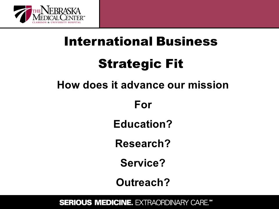 International Business How does it advance our mission