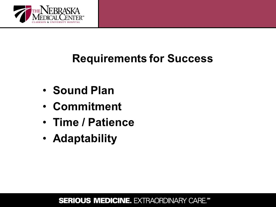 Requirements for Success