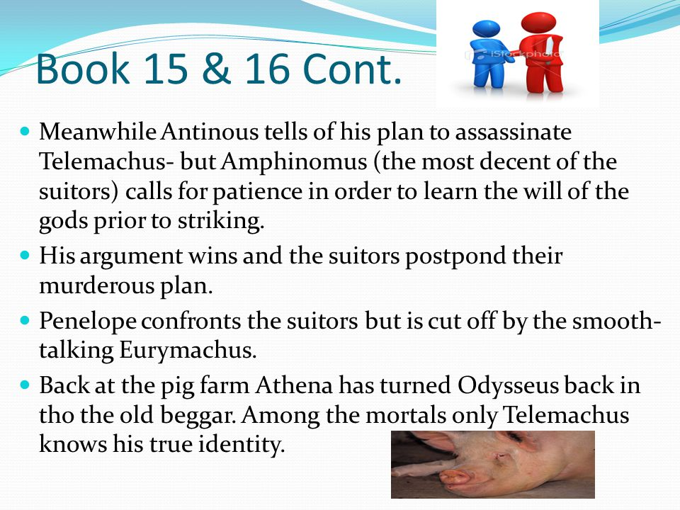 Book 15 & 16 Cont.