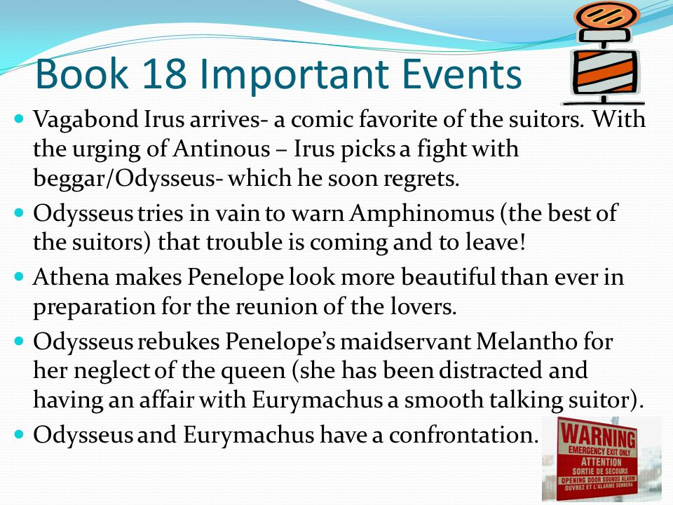 Book 18 Important Events