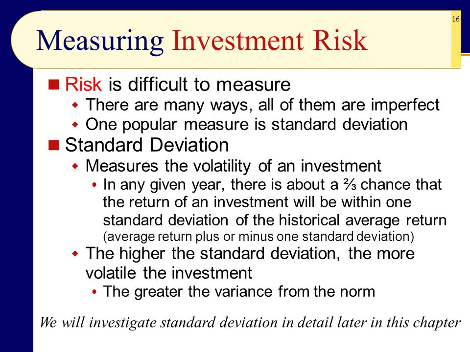 Measuring Investment Risk