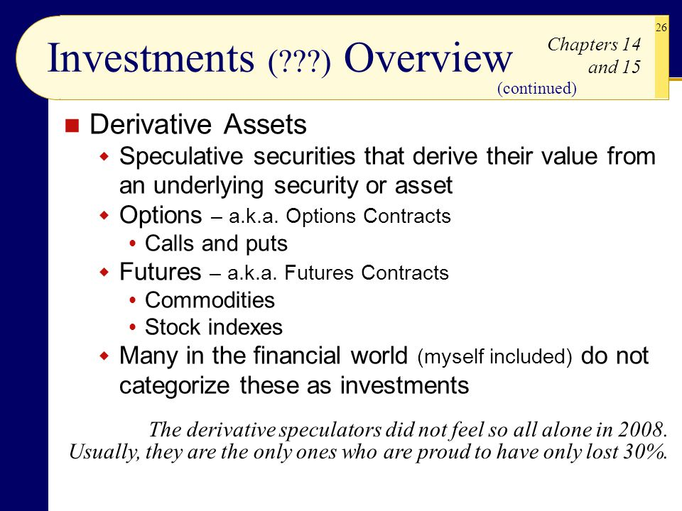 Investments ( ) Overview
