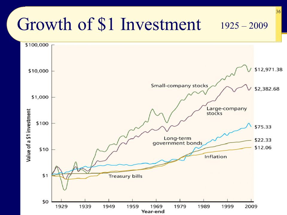 Growth of $1 Investment 1925 – 2009