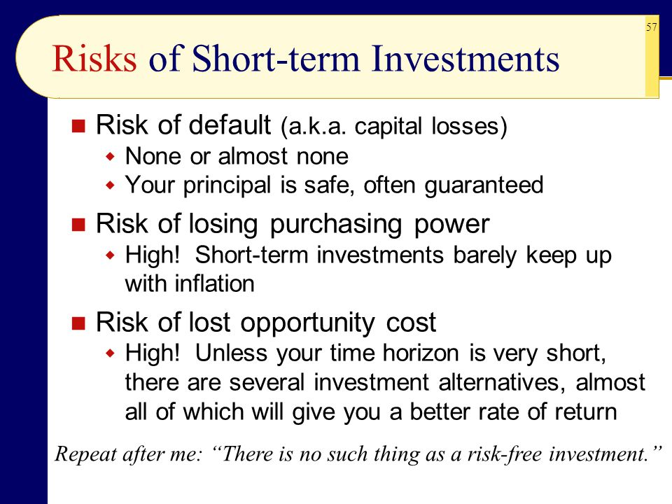 Risks of Short-term Investments