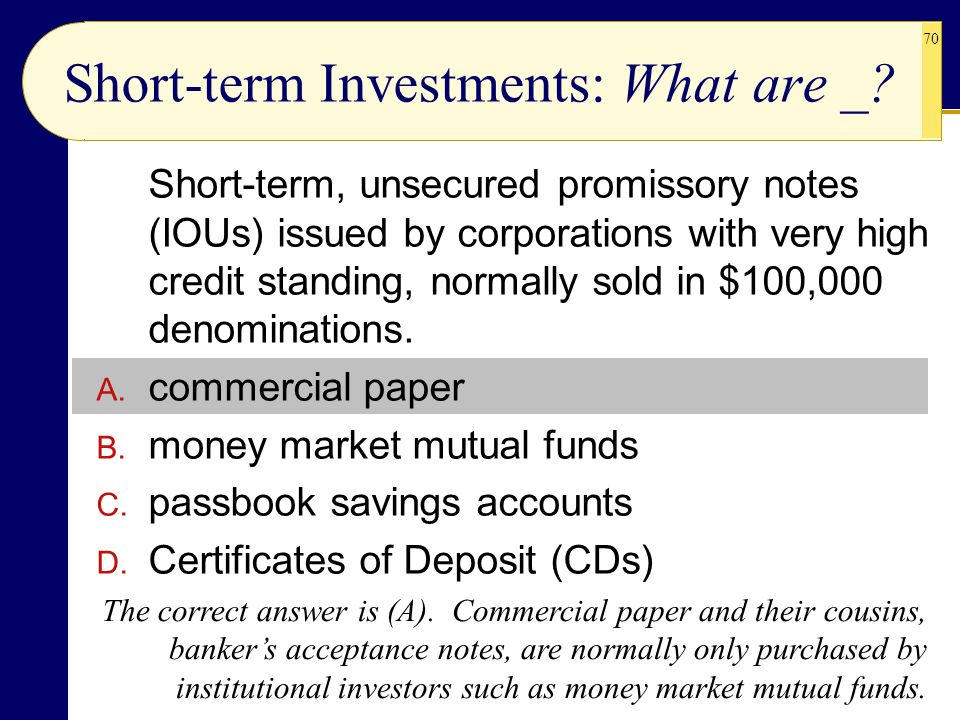 Short-term Investments: What are _